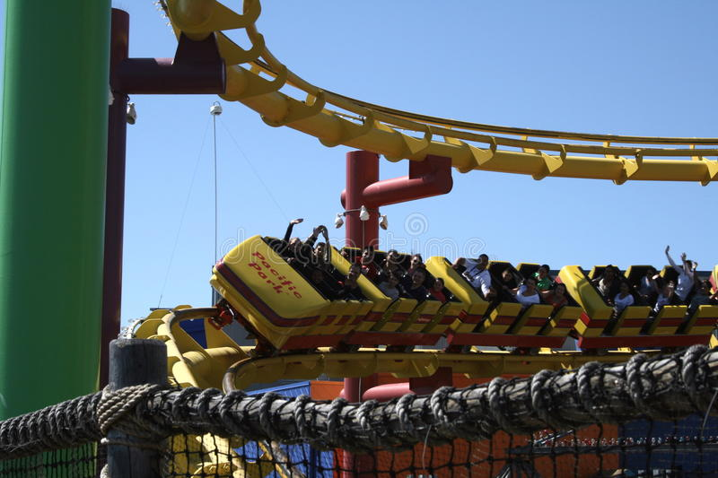Pacific Park Roller Coaster royalty free stock photo