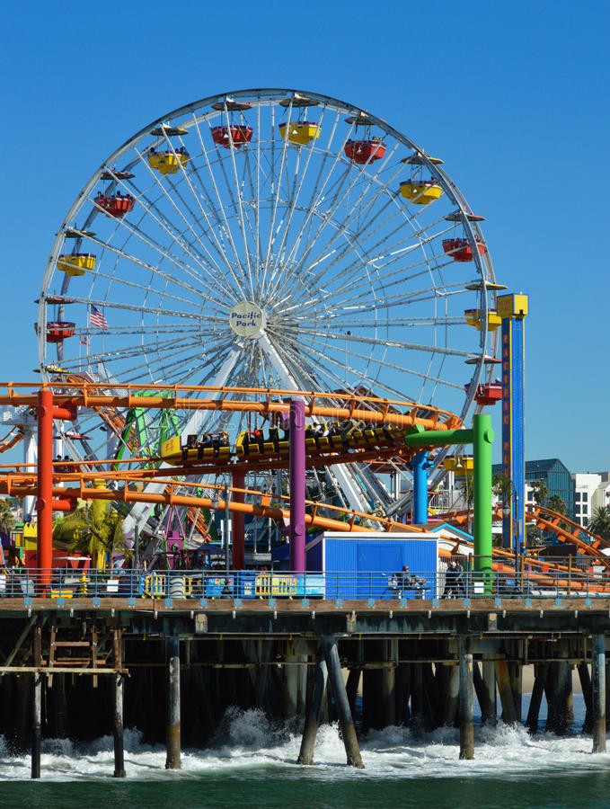 Pacific Park Santa Monica California royalty free stock photos