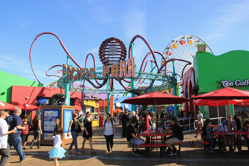 Pacific Park at Santa Monica stock images