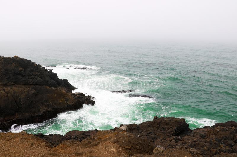 Pacific Pound to the rocky coast of Northern California. royalty free stock image