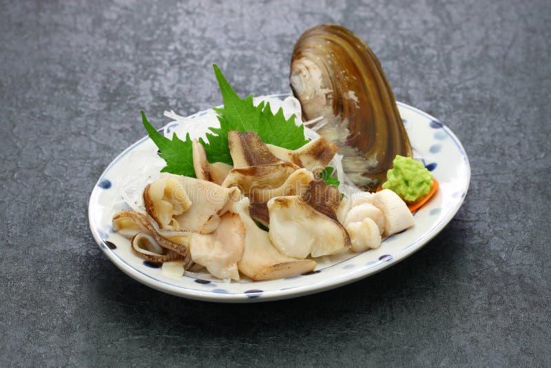 Pacific razor clam sashimi. Japanese cuisine stock photography