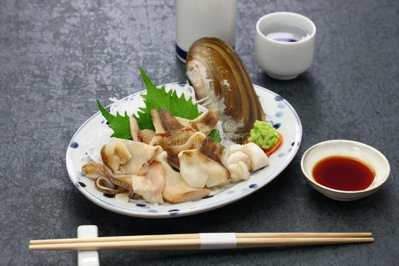 Pacific razor clam sashimi. Japanese cuisine stock images