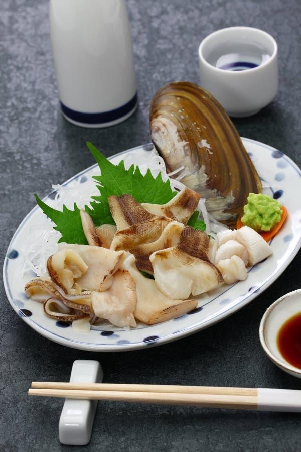 Pacific razor clam sashimi. Japanese cuisine royalty free stock image