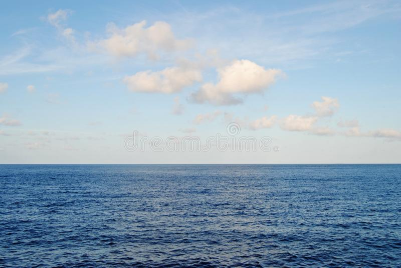 The Pacific`s Bright Blue Sky royalty free stock images