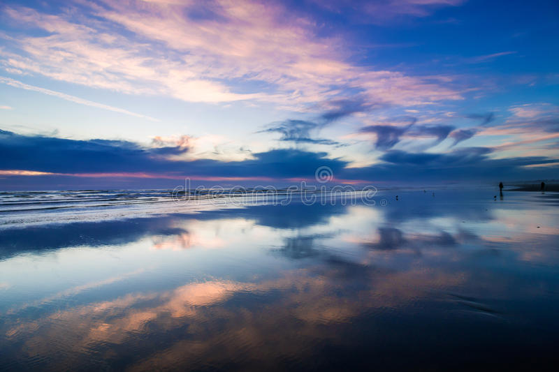 Pacific sunset royalty free stock image