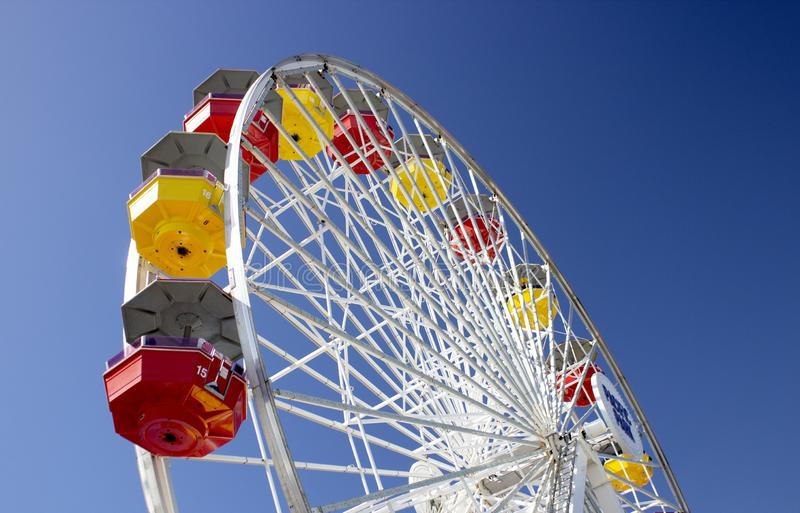 Pacific Wheel at Santa Monica Pier royalty free stock image