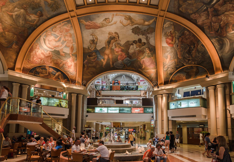 Pacifico galerie w W centrum Buenos Aires zdjęcie royalty free
