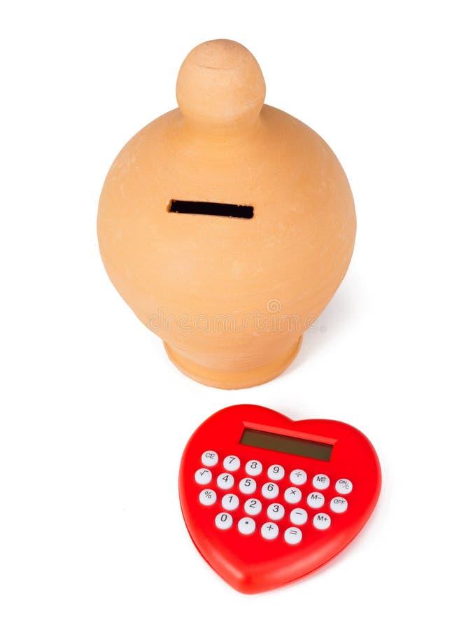 Pacifier калькулятора и сердца форменный стоковая фотография