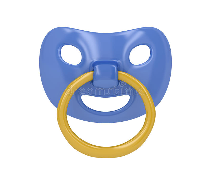 Pacifier. Isolated on a white background stock illustration