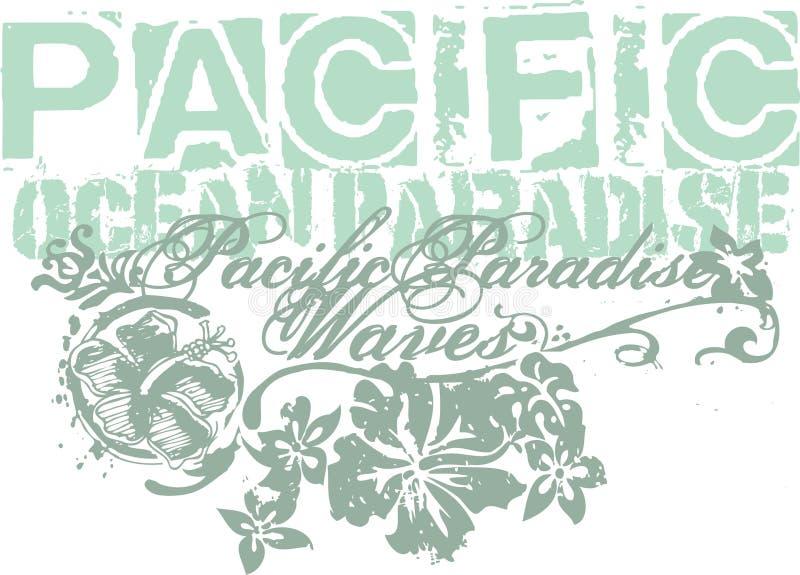 Pacifique illustration libre de droits
