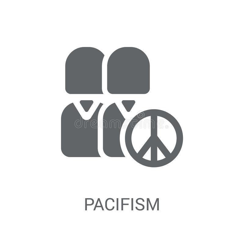 Pacifism icon. Trendy Pacifism logo concept on white background stock illustration