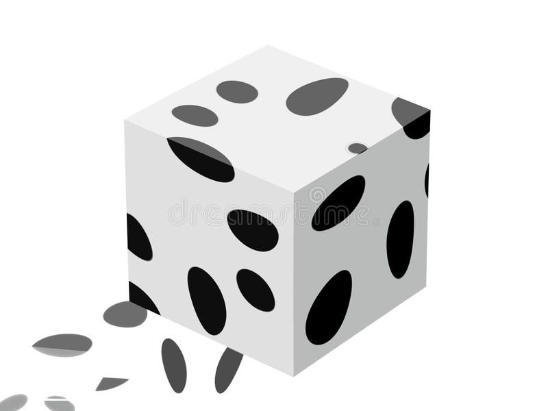 Pacing cube. Conceptual cube with its tracks vector illustration