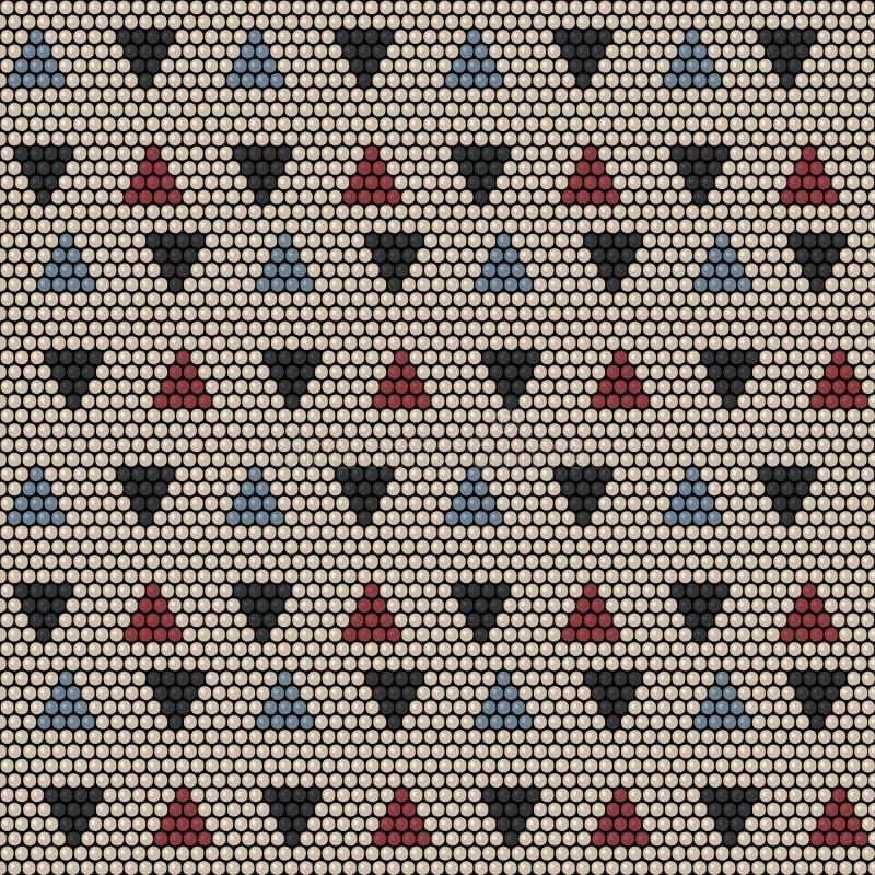 Paciorkowaty ornament Afrykańscy motywy bezszwowy wzoru ilustracji