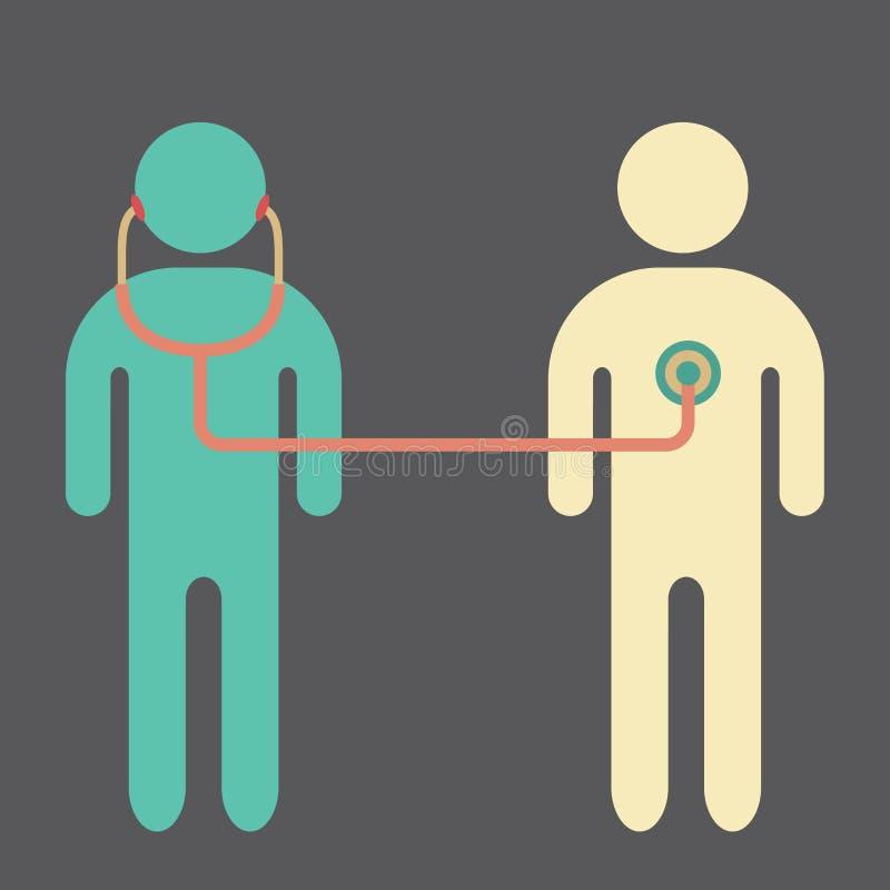 pacjentka doktora ilustracji