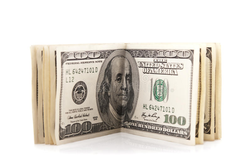 Pack Of 100 Dollars Stock Photos