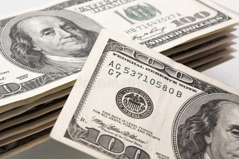 Download Pack on 100 dollars_9 stock photo. Image of close, bank - 12910028