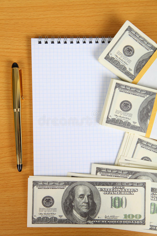 Download Pack of banknotes stock photo. Image of desk, amount - 26157432