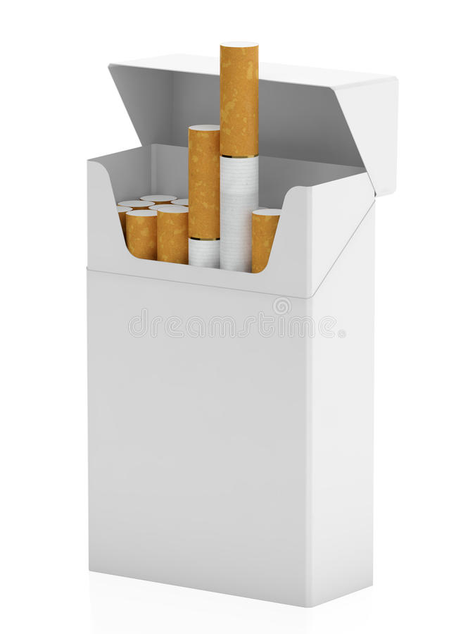 Download Pack of cigarettes stock illustration. Illustration of open - 26254492
