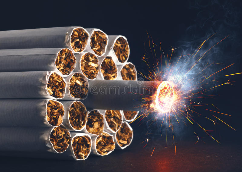 Download Cigarette Bomb stock image. Image of dynamite, nicotine - 30248335