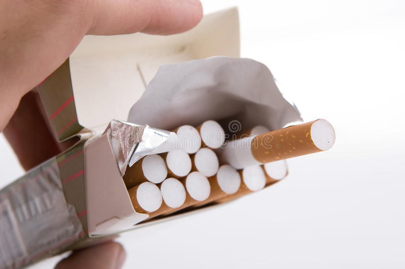 Download Pack Of Cigarettes In A Hand Stock Image - Image of packet, color: 11408575