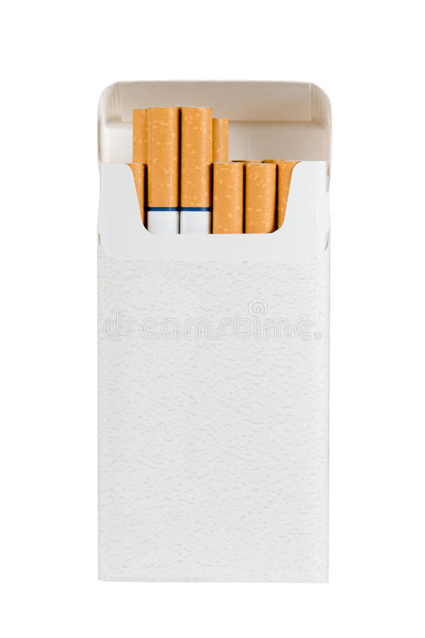 Pack of Cigarettes - Isolated with Text Space stock image