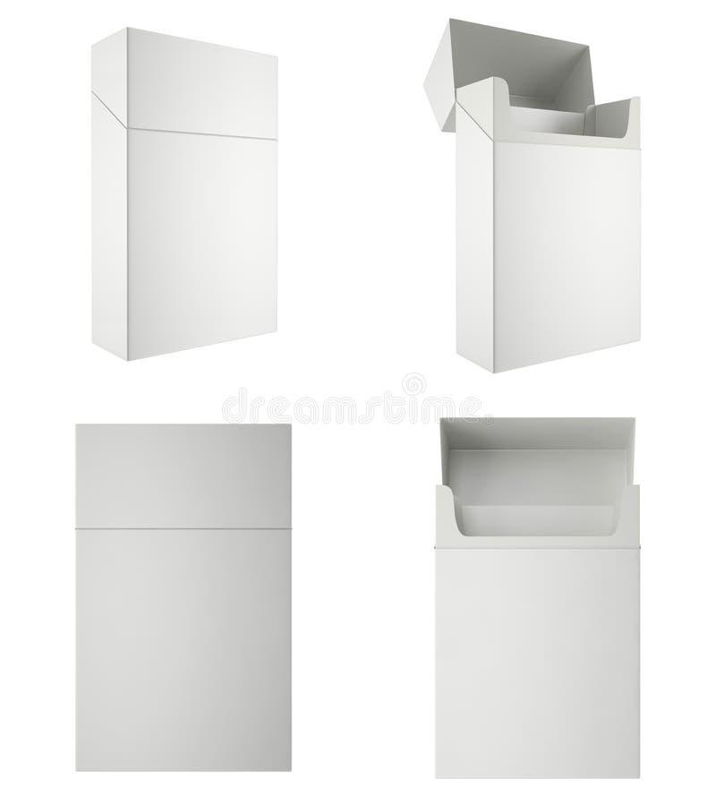 Pack of cigarettes, isolated on white background stock illustration