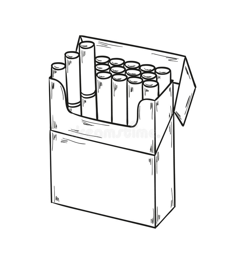 Pack of cigarettes royalty free illustration