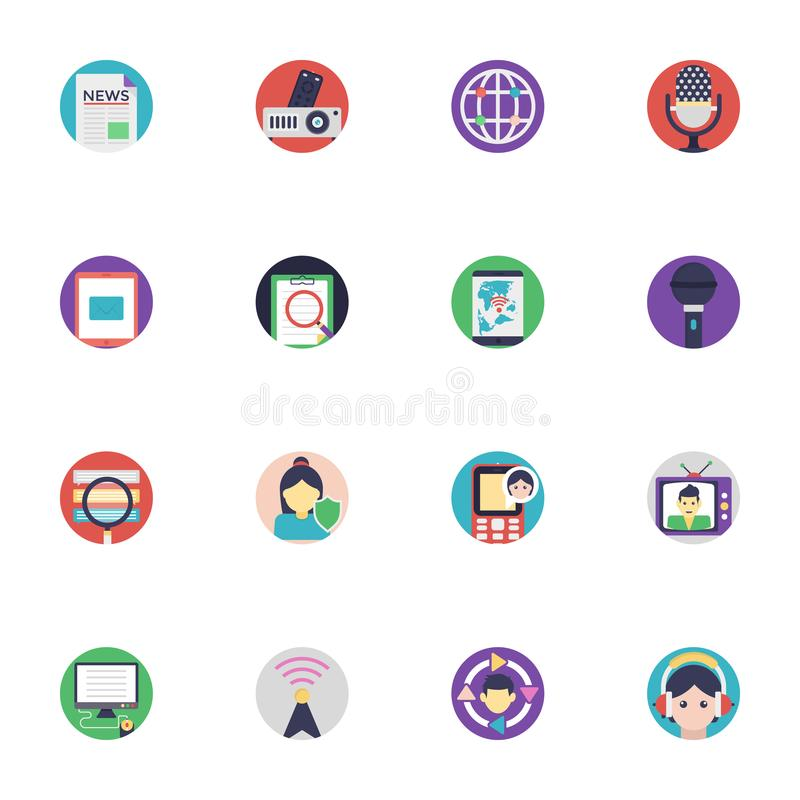 Communication Icons Collection. The pack encloses wide range of elements that belong to the very set of communication. The colorful flat icons of this set vector illustration