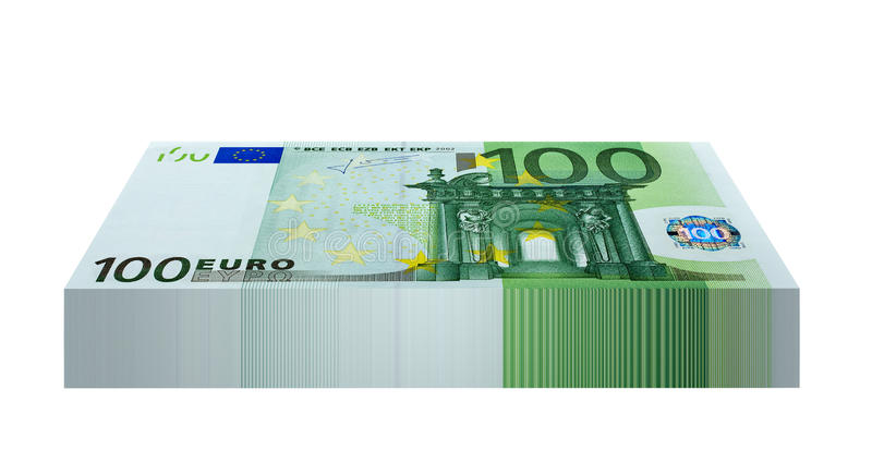 Download Pack of 100 Euro Banknotes stock image. Image of success - 30832683