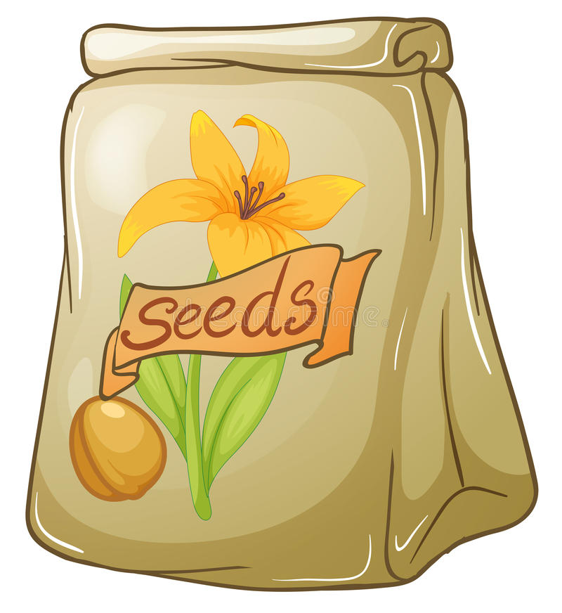 A pack of flower seeds. Illustration of a pack of flower seeds on a white background vector illustration