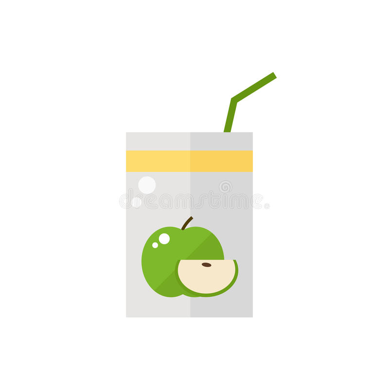 Pack of juice. royalty free illustration