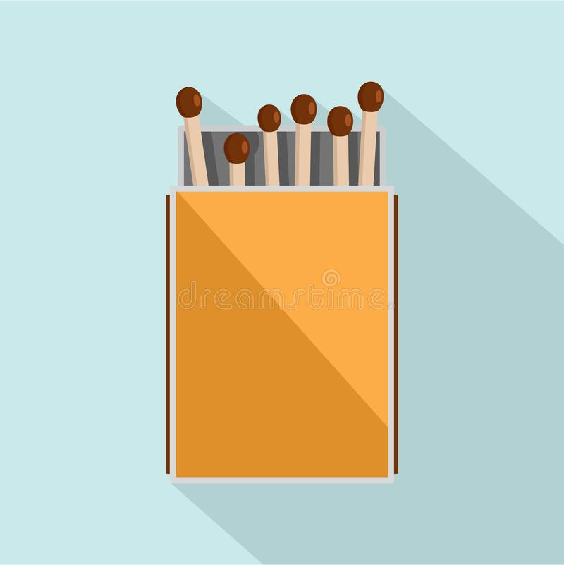 Pack of matches icon, flat style vector illustration