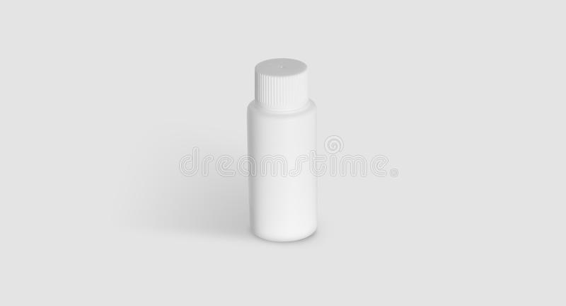 Pack for neutral liquid with cap royalty free stock image