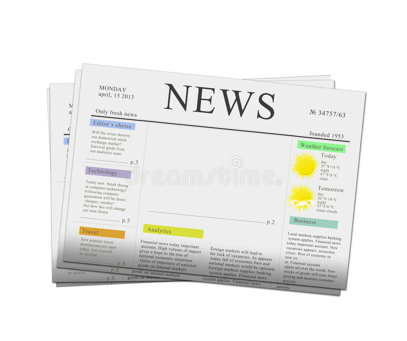 News papers with copy space royalty free stock photos