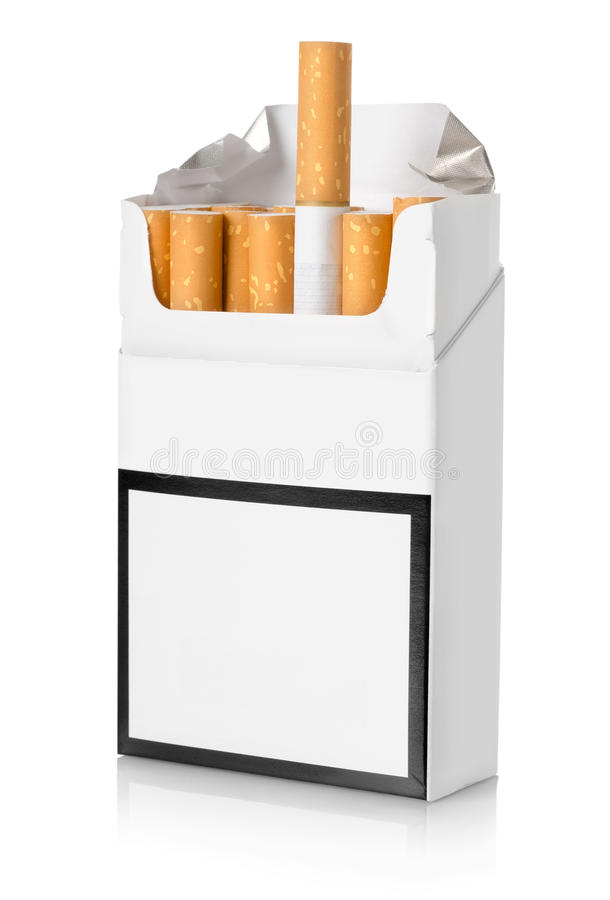 Free Pack Of Cigarettes Isolated Royalty Free Stock Photography - 28486897