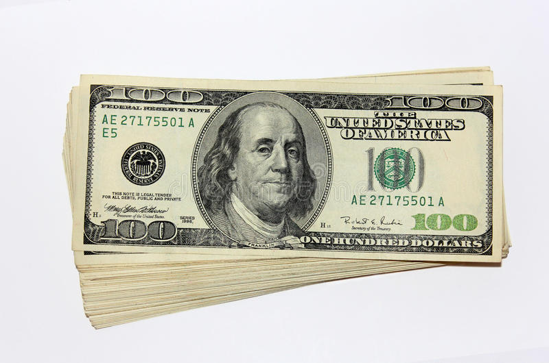 Download Pack Of One Hundred Dollar Notes Stock Image - Image: 23357869