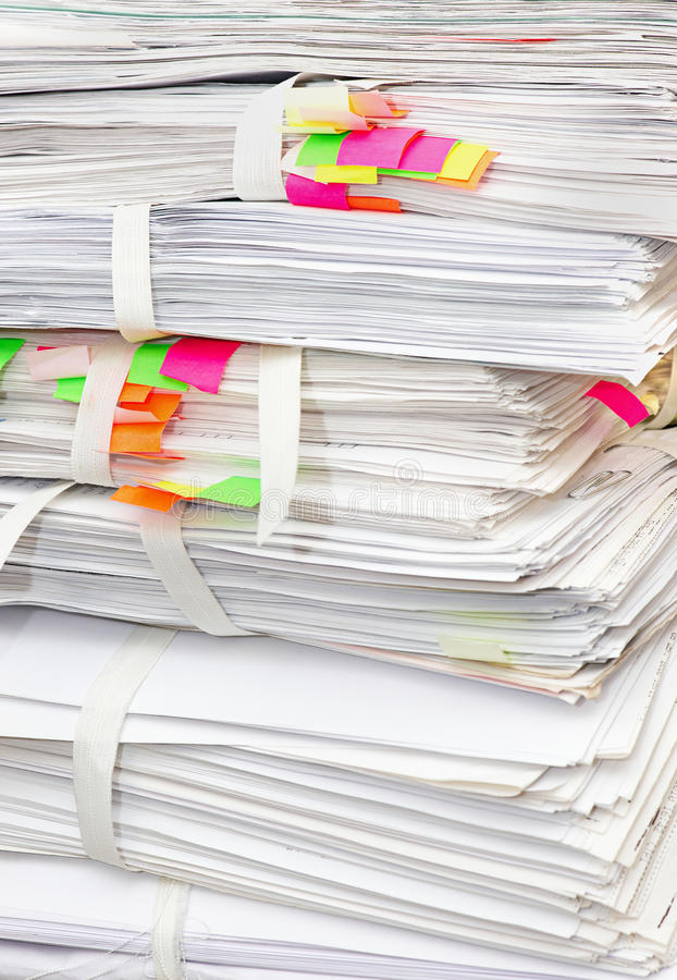 Download Pack of papers stock photo. Image of archive, data, binder - 19939174