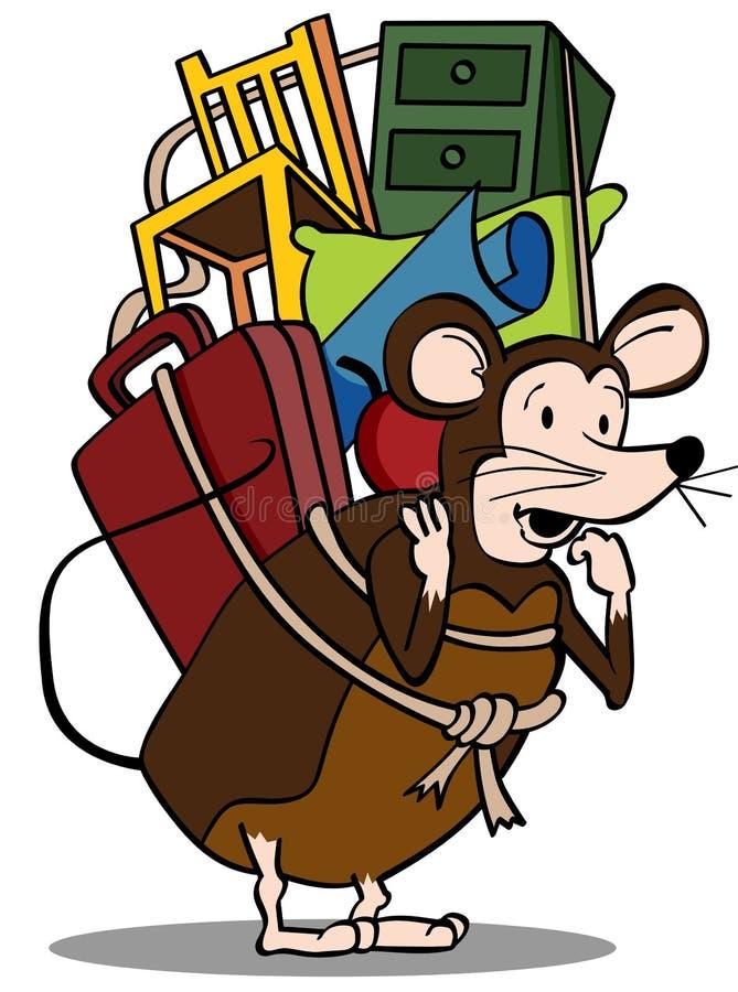 Pack Rat vector illustration