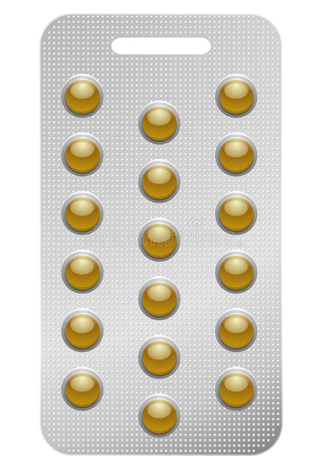 Pack Of Round Pills Royalty Free Stock Photos