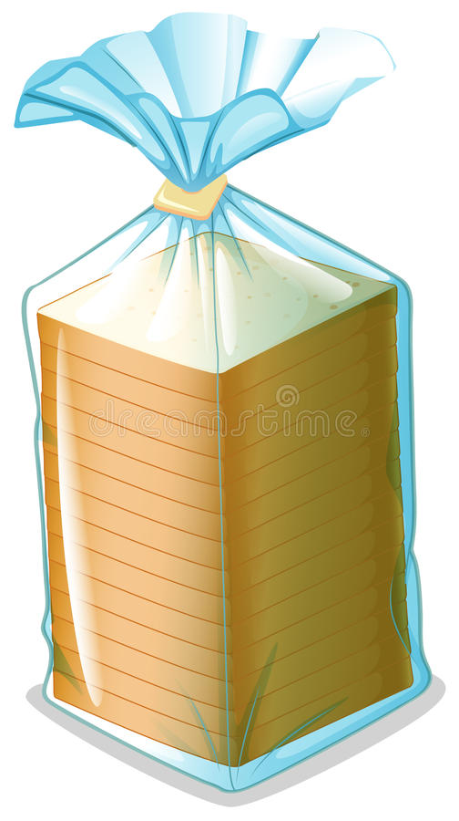 Download A pack of sliced bread stock vector. Image of edible - 33689547