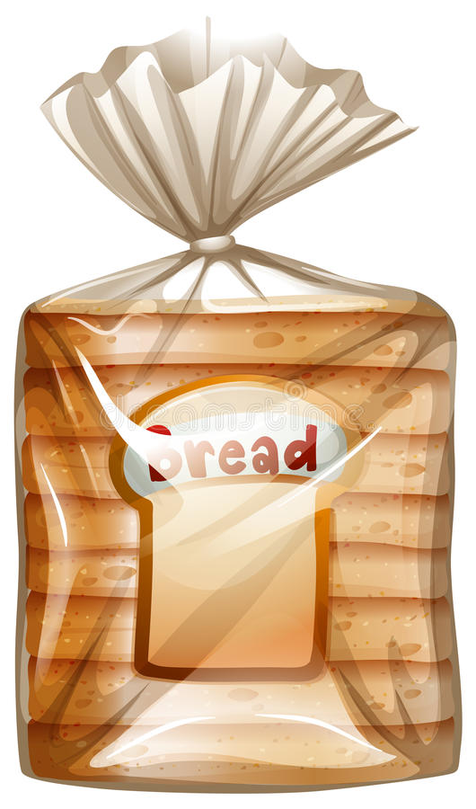 A pack of sliced bread. Illustration of a pack of sliced bread on a white background vector illustration