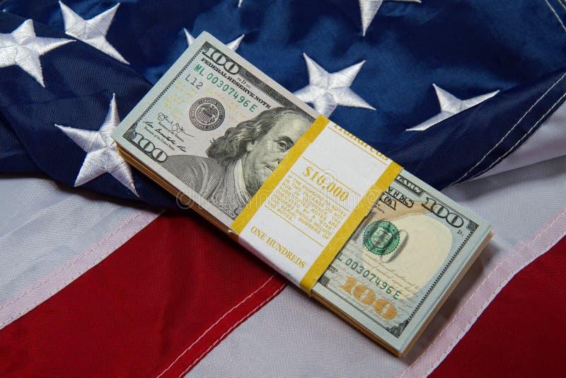 Us flag dollars royalty free stock image