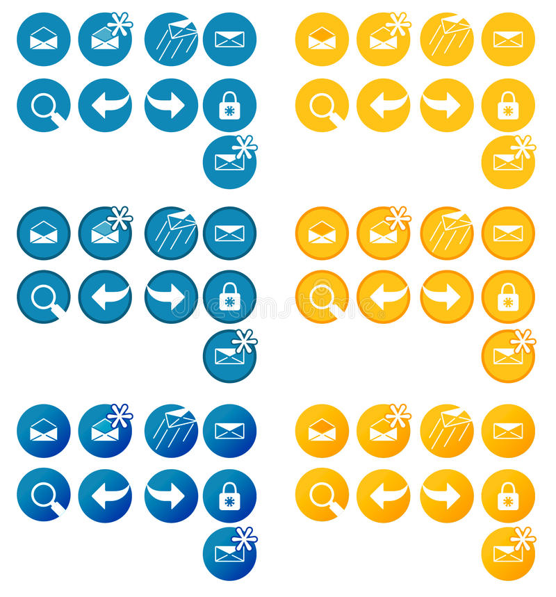 Pack of website oriented buttons. Pack of vector made buttons aimed for web sites. Additional format is .ai vector file (Adobe Illustrator vector illustration