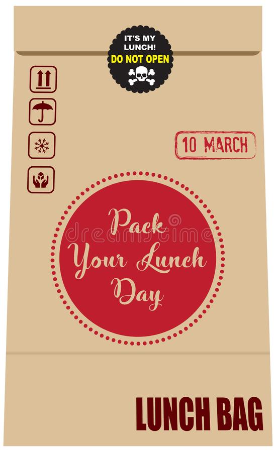 Pack Your Lunch Day royalty free illustration