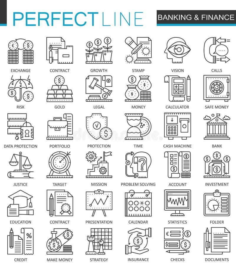 Packa ihop finans fodra thin rengöringsduksymbolsuppsättningen Pengar- och för slaglängd för betalningplanlägger online-shoppingö vektor illustrationer