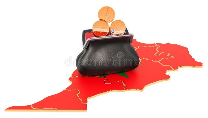 Packa ihop, investering eller finansiellt begrepp i Marocko framf?rande 3d vektor illustrationer