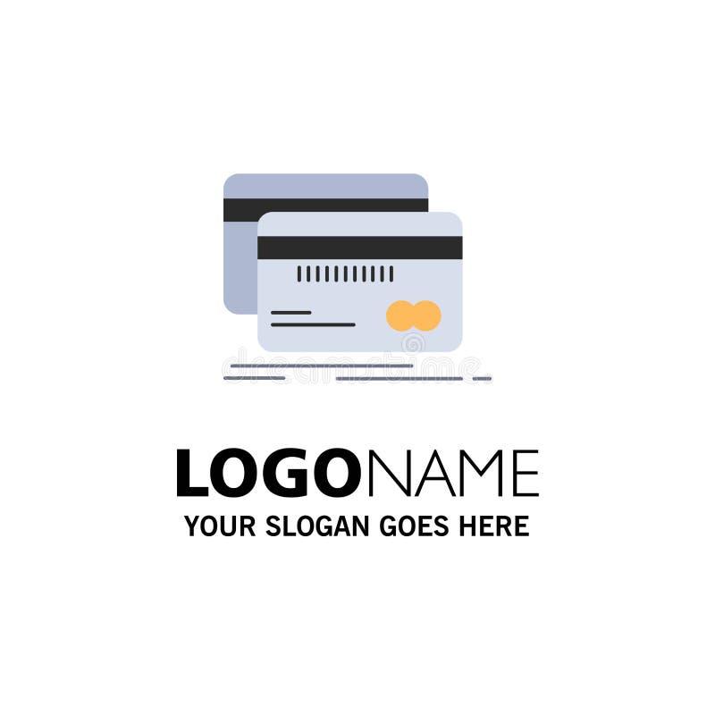 Packa ihop kort, kreditering, debitering, för färgsymbol för finans plan vektor royaltyfri illustrationer