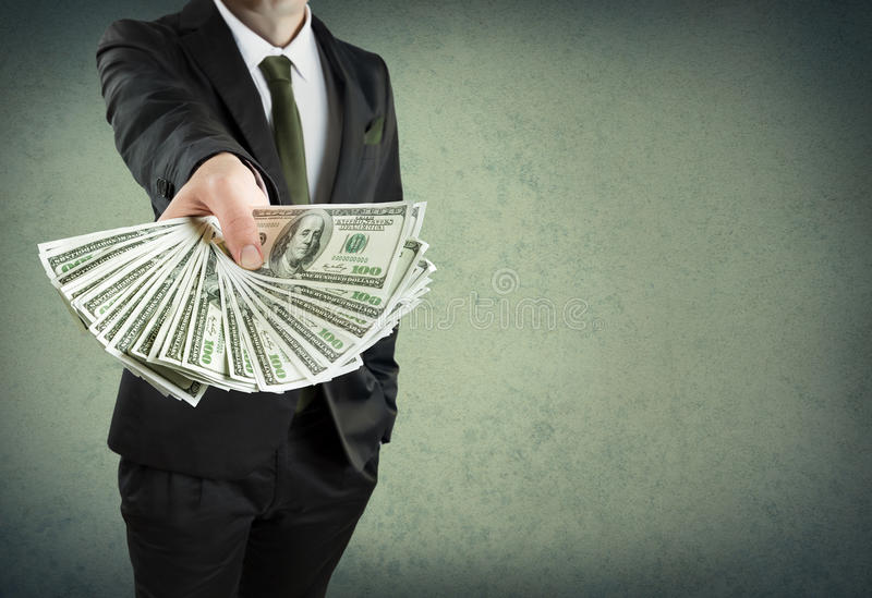 Packa ihop lån eller kontant begrepp fotografering för bildbyråer