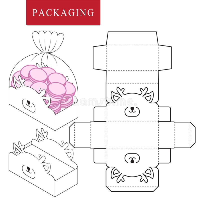 Package for bakery. Vector Illustration of Box. vector illustration