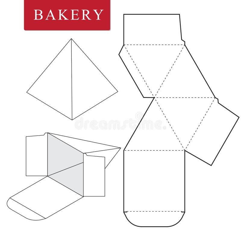 Package for bakery.Vector Illustration of Box. stock illustration